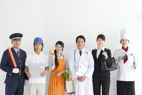 色々な職業の人々の写真素材 [FYI01282814]