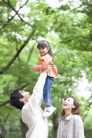 新緑と家族の写真素材 [FYI01282941]