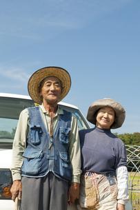 農家の老夫婦の写真素材 [FYI01285007]