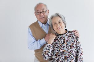 笑顔の老夫婦の写真素材 [FYI01286484]