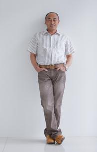 笑顔の中高年男性の写真素材 [FYI01286648]