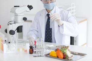 試験管を見る男性研究者の写真素材 [FYI01287140]