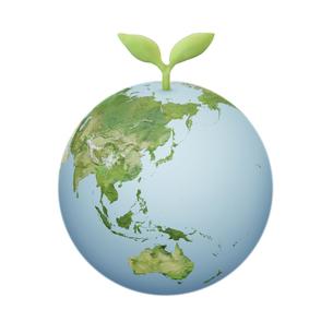 新芽と地球のイラスト素材 [FYI01287302]