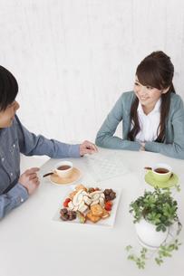 チェスで遊んでいるカップルの写真素材 [FYI01288284]