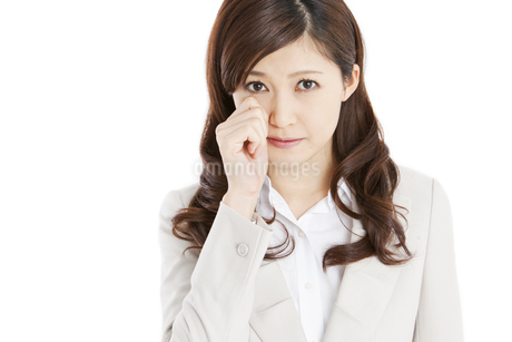 泣くビジネスウーマンの写真素材 [FYI01292034]