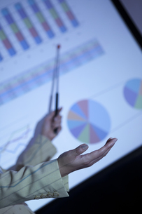 グラフを指しているビジネスウーマンの写真素材 [FYI01293910]