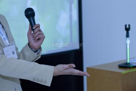 プレゼンテーションをしているビジネスウーマンの写真素材 [FYI01293924]