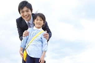 笑顔の親子の写真素材 [FYI01294216]