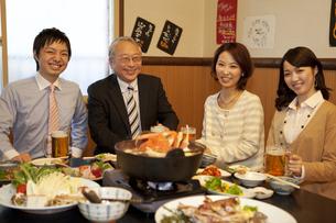 笑顔のビジネスマン4人の写真素材 [FYI01296914]