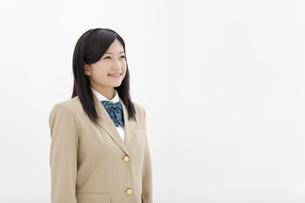 笑顔の女子高生の写真素材 [FYI01298581]