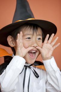 ハロウィンの衣装を着た男の子の写真素材 [FYI01303448]
