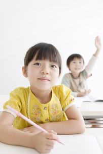 勉強をする女の子の写真素材 [FYI01304586]