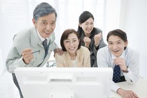 笑顔の中高年男女の写真素材 [FYI01307009]