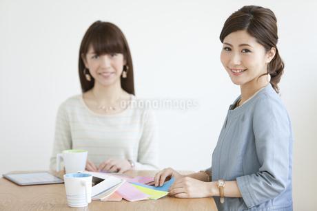 打ち合わせをする女性2人の写真素材 [FYI01307533]