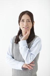 笑顔の中高年女性の写真素材 [FYI01308699]