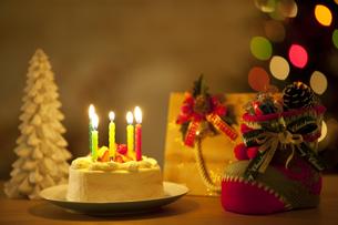 クリスマスケーキの写真素材 [FYI01310120]