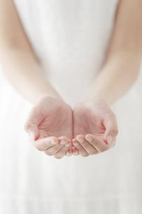 両手を差し出す女性の写真素材 [FYI01310348]