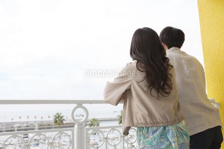 景色を眺める夫婦の写真素材 [FYI01314834]