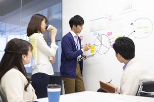 会議をするビジネス男女の写真素材 [FYI01317691]