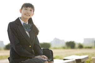笑顔の女子校生の写真素材 [FYI01318545]