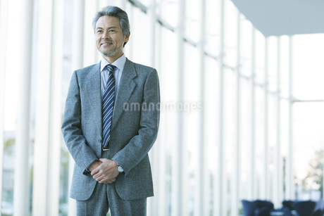 笑顔のビジネスマンの写真素材 [FYI01319074]