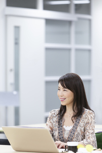 笑顔のビジネスウーマンの写真素材 [FYI01319511]