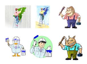 ペイントキャラクター 工務店キャラクターのイラスト素材 [FYI01320568]