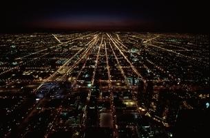 街並み 夜景 空撮の写真素材 [FYI01322923]