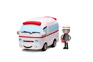 救急車と救急隊員の写真素材 [FYI01323466]