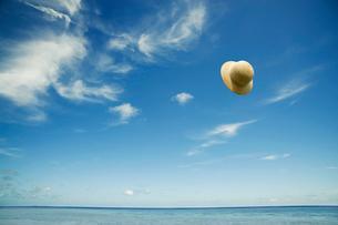 青空と麦わら帽子の写真素材 [FYI01325597]