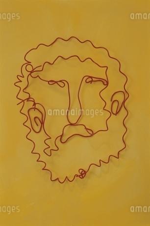 ワイヤーで作ったメガネをかけた男性の写真素材 [FYI01326195]