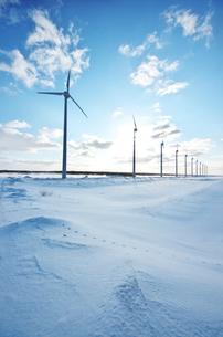 オトンルイ風力発電所の写真素材 [FYI01326228]