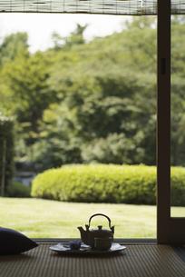 お茶と急須の写真素材 [FYI01327684]