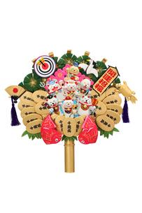 招き猫の七福神の熊手の写真素材 [FYI01327819]