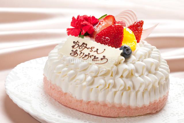 母の日ケーキの写真素材 [FYI01328530]