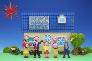 クラフト 太陽電池の住宅の写真素材 [FYI01328881]