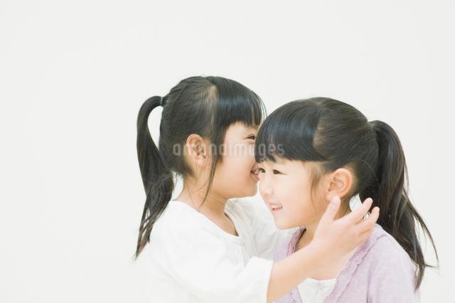 ひそひそ話をする二人の女の子の写真素材 [FYI01331593]