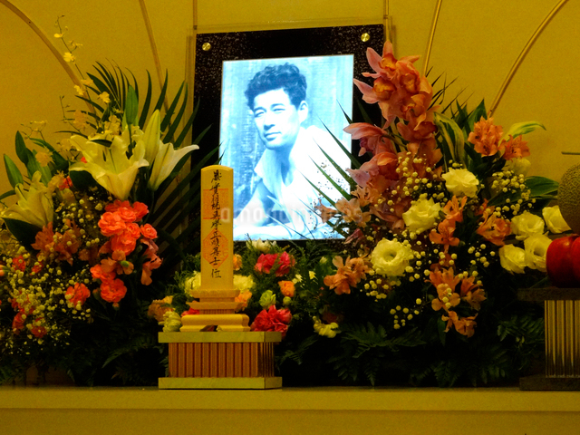 家族葬の祭壇の写真素材 [FYI01332219]
