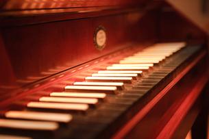 古いピアノの鍵盤の写真素材 [FYI01334760]