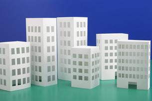 ペーパークラフトのビルの写真素材 [FYI01335076]