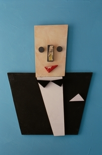 タキシードを着た人イメージの写真素材 [FYI01335239]