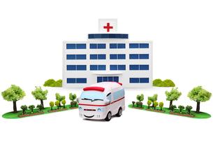 病院と救急車の写真素材 [FYI01335715]