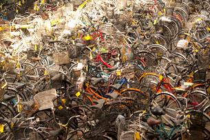 放置自転車保管場の写真素材 [FYI01337903]