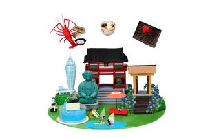 観光地クラフト 鎌倉・江の島とご当地名物の写真素材 [FYI01337910]