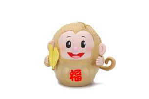 バナナを持った申のダルマの写真素材 [FYI01338123]