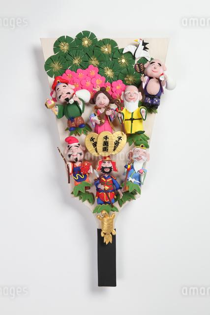 クラフト 七福神の羽子板の写真素材 [FYI01338894]