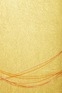 金の和紙と水引の写真素材 [FYI01339828]