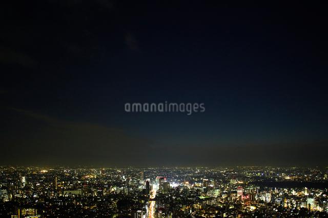 六本木から見た渋谷区の夜景の写真素材 [FYI01340068]