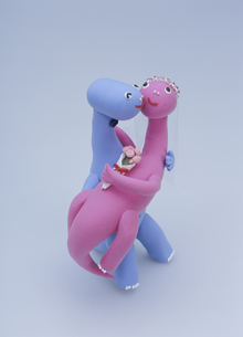 恐竜のカップルの写真素材 [FYI01340744]