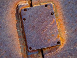 鉄板の接続金具の写真素材 [FYI01341326]